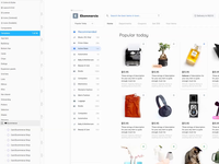 Material Desktop Ecommerce Template