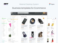 Figma Desktop Template For Material Design Web Apps