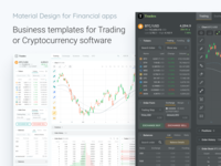 Figma Material Desktop Templates : Financial