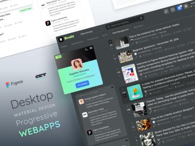 Desktop Material Design for Progressive Web Apps