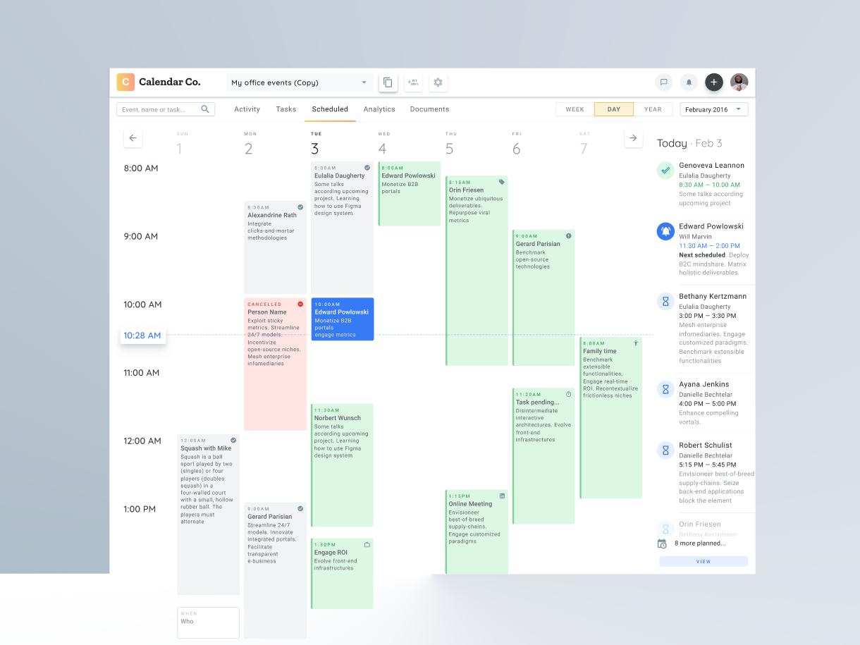 figma desktop app calendar planner schedule timetable design by