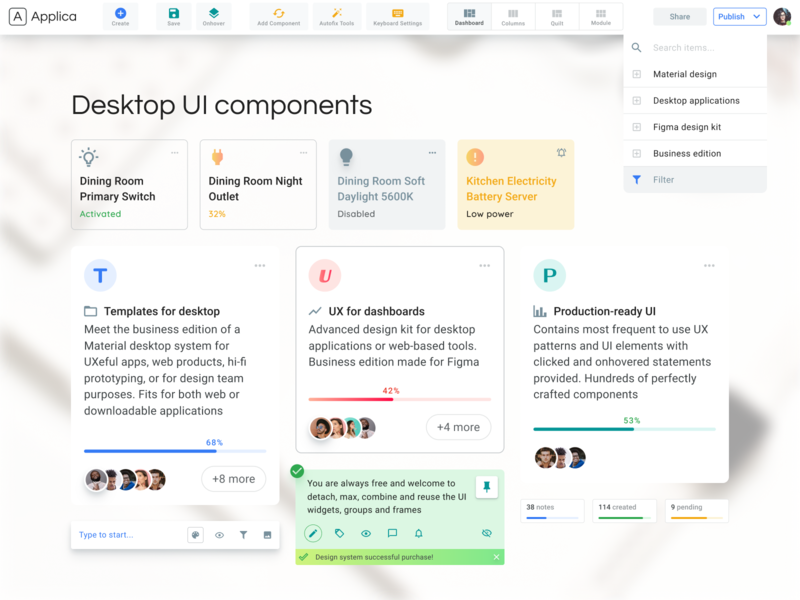 Software Ui Design Components By Roman Kamushken On Dribbble