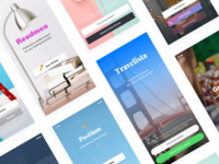 Home, Welcome, Splash templates for iOS apps
