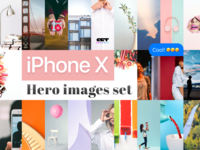 iPhone X placeholder images set