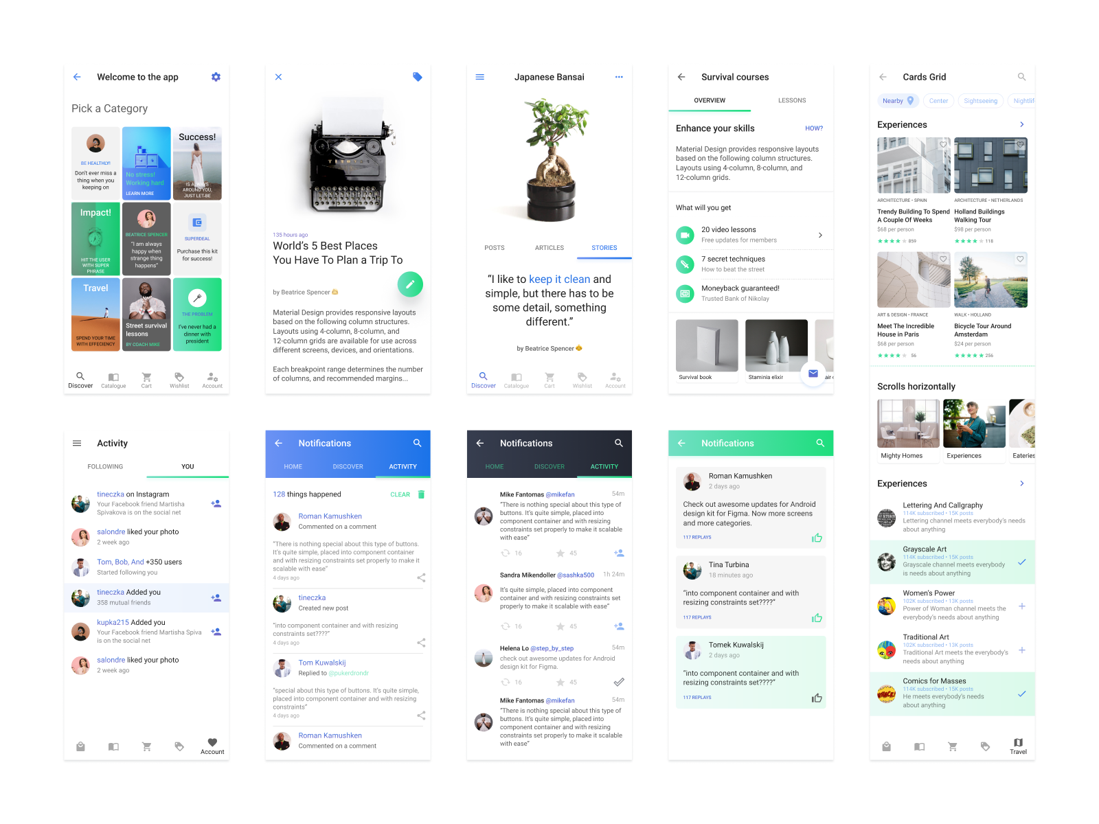 Android ui kit   refreshed theme