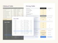 Tables UI Design — Cells, Grid, Templates