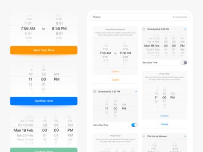 Figma iOS Pickers Native UI Design