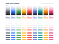 Design System Guidelines  - Color Palette & Shadows