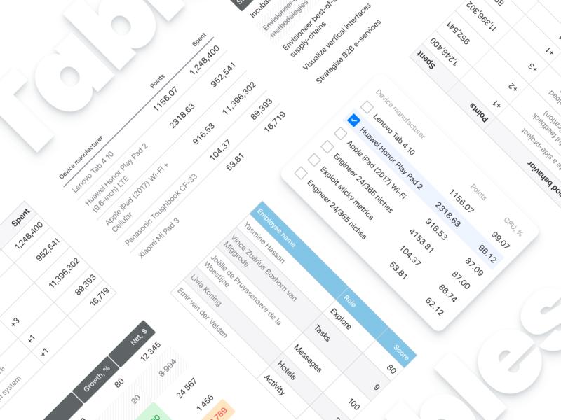 Figma Tables UI Design Tutorial article post bog medium tutorial web app figma data grid cell column row design ui table