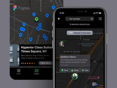 iOS Maps Design Templates