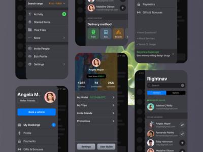 iOS Patterns: Side Navigation Drawer Bar