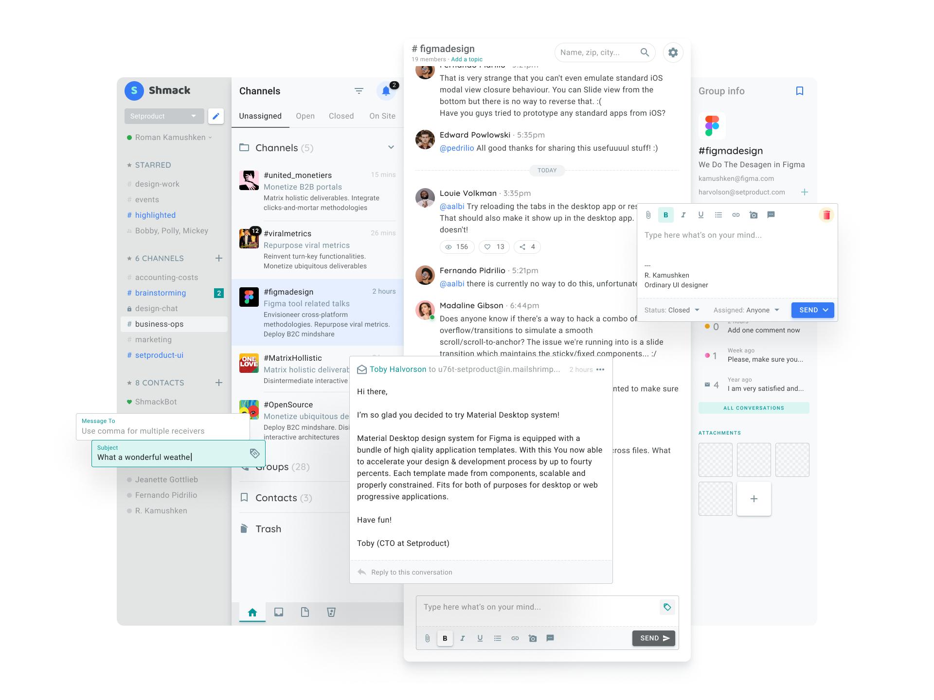 Messenger web aapp ui design