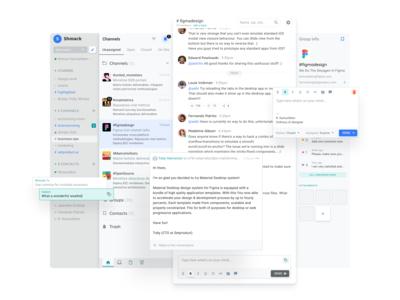 Messenger Web App UI Design