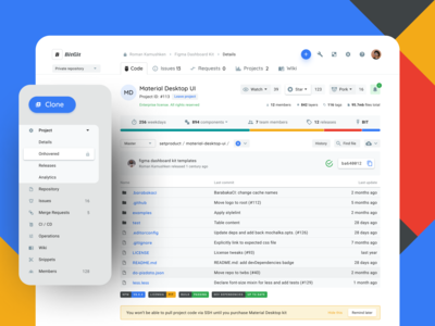 Git Repository Ui Design Template