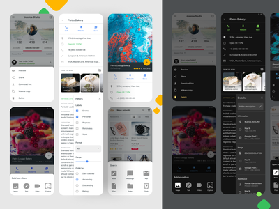 Bottom Sheets UI - Material design Figma list ui android templates system ui kit material design app figma sheet sheets