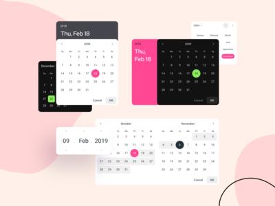 Material Design Datepicker UI