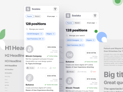S8 Design System - Mobile app templates