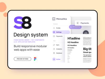 S8 Design System - Modular UI kit - App templates