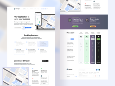 Figma Web Design Template - UI kit landing pages
