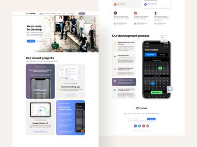 Figma web site templates - Design system kit
