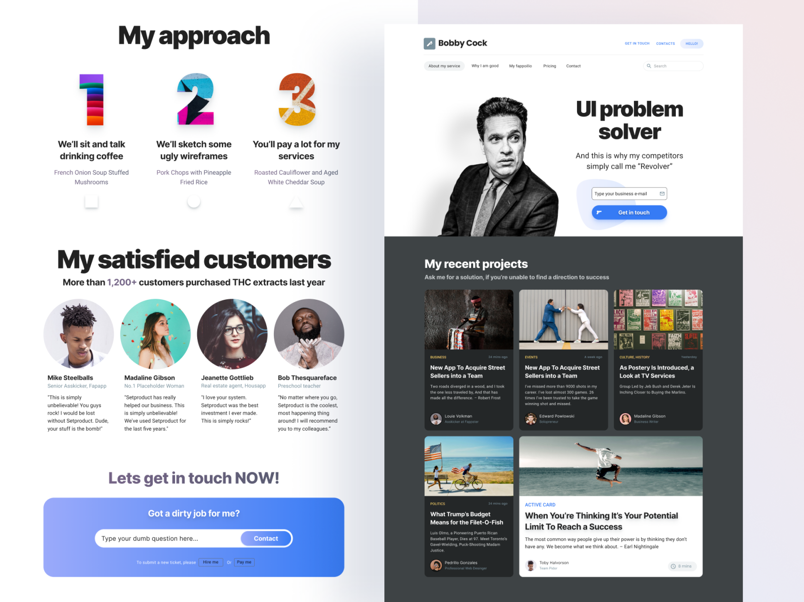 Figma web design kit   landing page templates