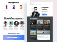 Figma web design kit - Landing page templates