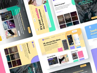 Web design system - Figma landing pages