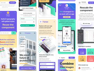 Web design library - Figma website templates
