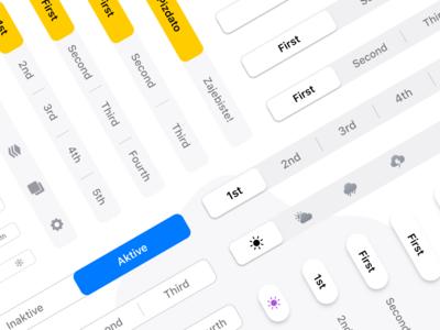 Figma iOS UI kit - Segmented controls - Native & Styled
