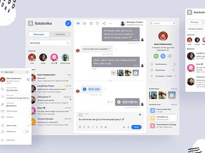 Figma messenger app template for mobile and desktop min ux slack conversation messenger message chat kit ui desktop app figma