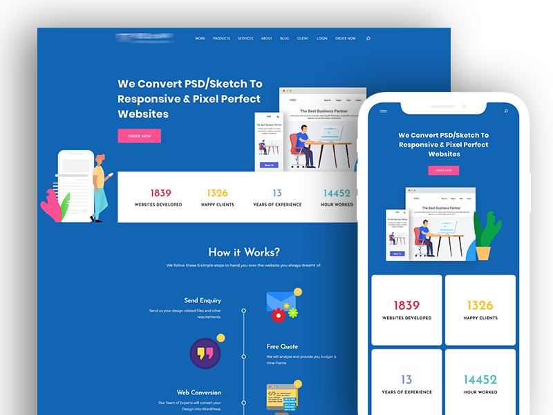 Responsive UI Design Explore sketch uxdesign free psd landingpage landingpagedesign interface free gradient marketing seo onepage exclusive interaction trend layout webdesign ux ui