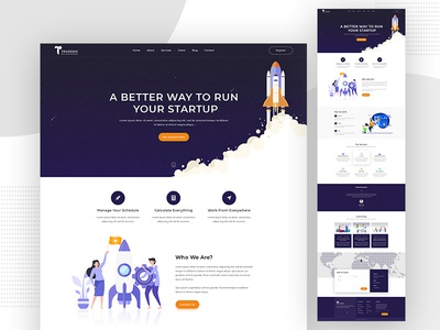 Startup Business // Landing Page Template