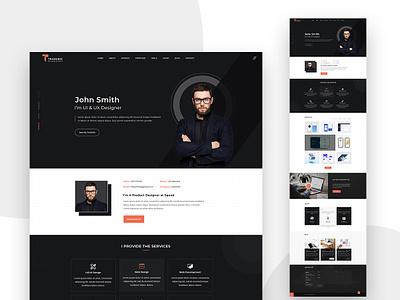 Personal Portfolio Template minimalist minimal app uxdeisgn trend webdesign ux ui xd psd resume portfolio