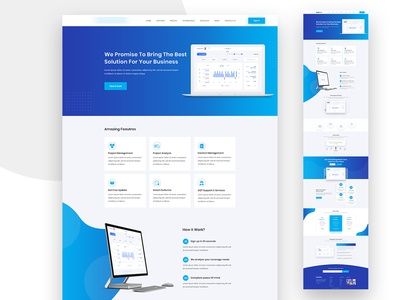 Software Landing Page Template newconcept redesign onepage multipage softwaredesign psd xd mockup uidesign uxdesign appdesign app software trendy layout landingpage interaction webdesign ux ui