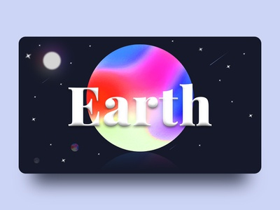Gradient Mesh & Noise // Earth tool noise gradient art simple heart web inspire typography heroimage illuatration ai earth