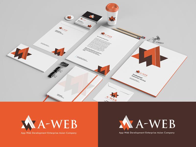 Logo & Stationery Design coverletter mug bage businesscard envelope letterhead identity branding mockup trend eps ai psd layout print logo