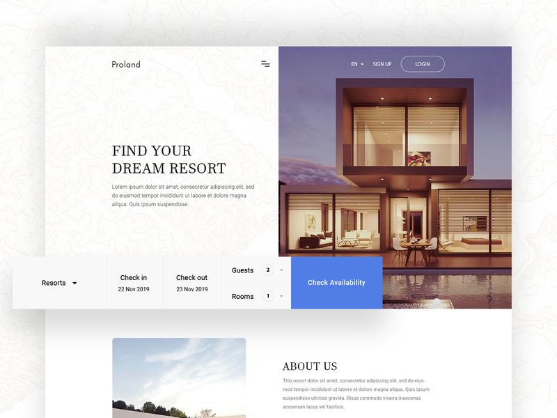 Hotel Booking Website onepage landingpage xd sketch webdesign uidesign wireframe ui ux website builder layout website hotel booking hotel