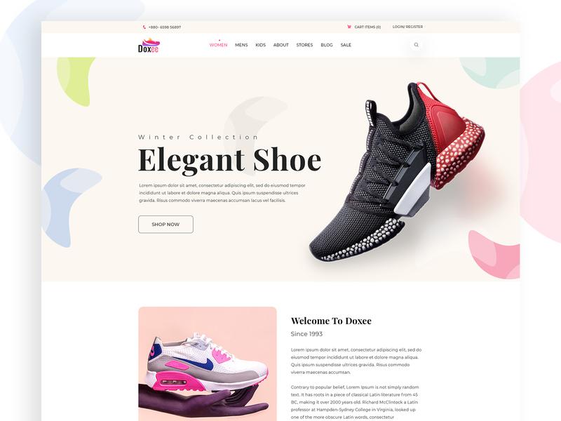 Ecommerce UI Explore webdesign ux ecommerce blog trend template website layout uiux ui