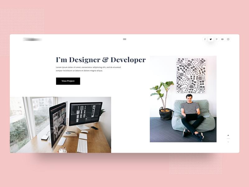 Minimal Portfolio Webdesign psdlayout uiconcpt webui ux uidesign trend uiwebdesign webdesign portfolio website layout ui portfolio