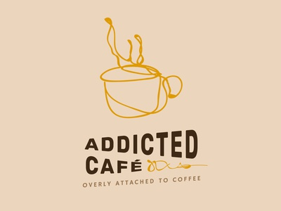 Addicted Cafe logo- Branding