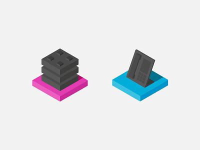Isometric flat icons isometric flat icon icons simple geometric