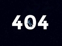 Lost in space - 404 page