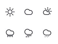 Weather icon set - Linecons