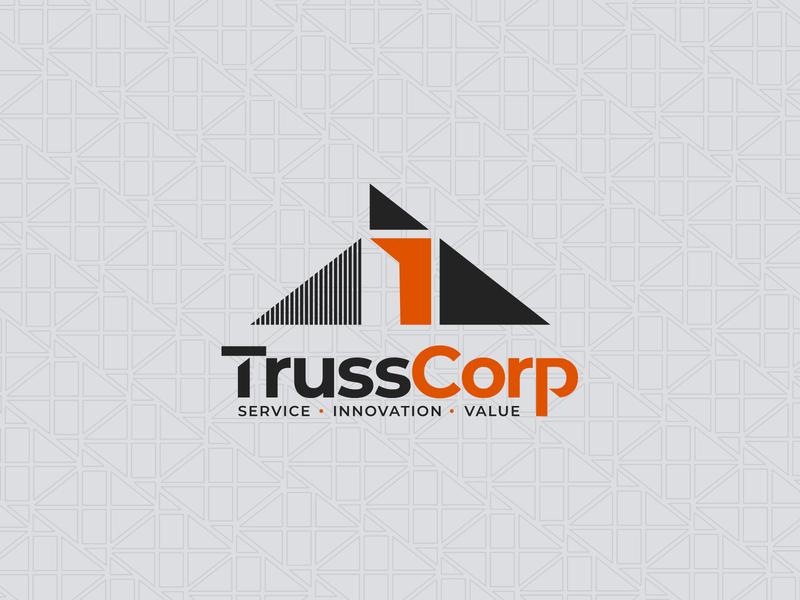TrussCorp Logo Concept Pattern