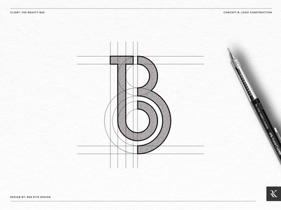 Beauty Logo Grid Concept B design logo logodesign branding design branding brand identity designer brand identity design brand identity