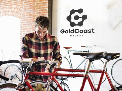 GoldCoast Cycles Logo Mockup