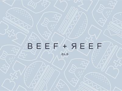 Beef + Reef Logo Pattern