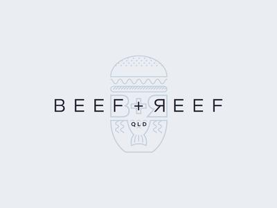 Beef + Reef Logo Concept