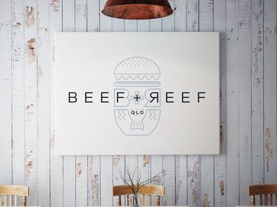 Beef + Reef Logo Mockup