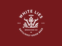 White Lies Brewing Logo Concept